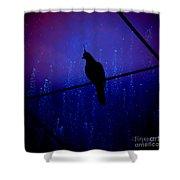 Bird On The Wire ... Shower Curtain