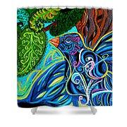 Bird Song Shower Curtain by Genevieve Esson