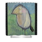 Bird With Found Feather Shower Curtain
