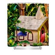 Birdhouse Church Shower Curtain