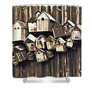 Birdhouse Condominium Shower Curtain