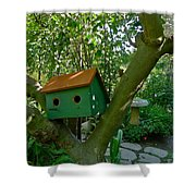 Birdhouse In A Tree Shower Curtain