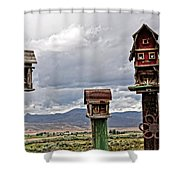 Birdhouses Shower Curtain