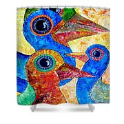Birds 736 - Marucii Shower Curtain