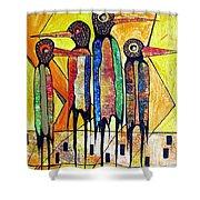 Birds 738 - Marucii Shower Curtain