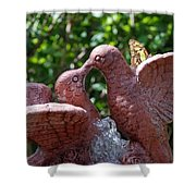 Birds And Butterfly Shower Curtain