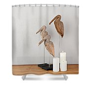 Birds And Candles Shower Curtain