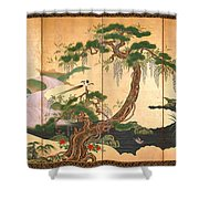 Birds And Flowers Of Spring And Summer Shower Curtain