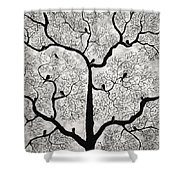 Birds And Trees Shower Curtain