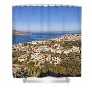 Birds Eye View Of Crete Greece Shower Curtain
