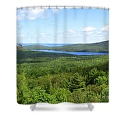 Bird's Eye View Of Eagle Lake Shower Curtain
