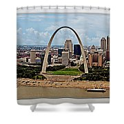 Bird's Eye View Of St.louis  Shower Curtain