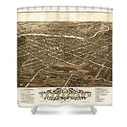 Bird's-eye View Of Youngstown Ohio 1882 Shower Curtain