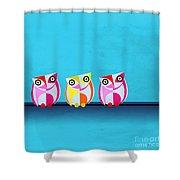 Birds In Blue  Shower Curtain