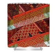 Birds In Rafters Of Royal Temple At Grand Palace Of Thailand  Shower Curtain