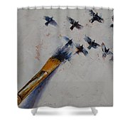 Birds Shower Curtain by Michael Creese