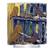 Birds Of A Feather Stay Together Shower Curtain