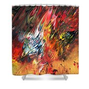 Birds On Fire Shower Curtain