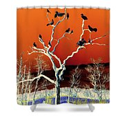 Birds On Tree Shower Curtain