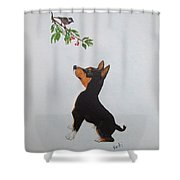 Birdwatching Shower Curtain