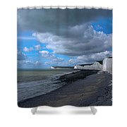 Birling Gap Beach Shower Curtain
