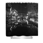 Birmingham Old Canal Bw Shower Curtain
