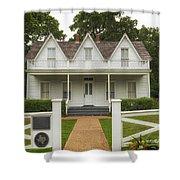 Birth Home Of Dwight D Eisenhower - Denison Texas Shower Curtain