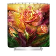 Birth Of A Rose - Sq Shower Curtain