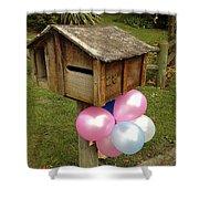 Birthday Balloons Shower Curtain