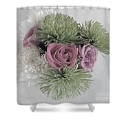 Birthday Flowers Two Shower Curtain