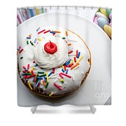 Birthday Party Donut Shower Curtain