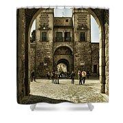 Bisagra Gate And Courtyard Shower Curtain
