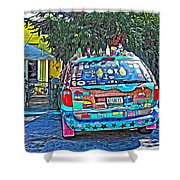 Bisbee Arizona Art Car Shower Curtain