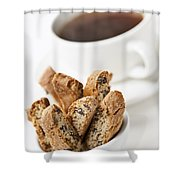 Biscotti And Coffee Shower Curtain