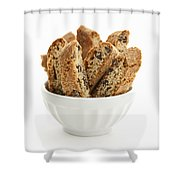Biscotti Cookies In Bowl Shower Curtain