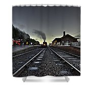 Bishops Lydeard By Dusk  Shower Curtain