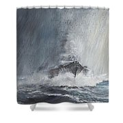 Bismarck Through Curtains Of Rain Shower Curtain