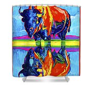 Bison Reflections Shower Curtain