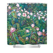 Bisset Park Hibiscus Shower Curtain