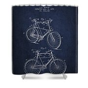 Bisycle Patent Drawing From 1898 Shower Curtain