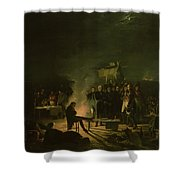 Bivouac Of Napoleon I 1769-1821 On The Battlefield Of The Battle Of Wagram, 5th-6th July 1809, 1810 Shower Curtain