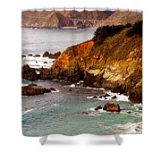 Bixby Bridge Of Big Sur California Shower Curtain by Barbara Snyder