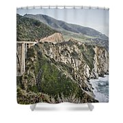 Bixby Bridge Vista Shower Curtain