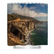 Bixby Coastal Drive Shower Curtain by Mike Reid