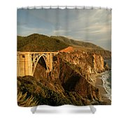 Bixby Creek Bridge In Big Sur Shower Curtain