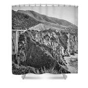 Bixby Overlook Shower Curtain by Heather Applegate