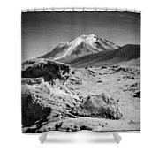 Bizarre Landscape Bolivia Black And White Select Focus Shower Curtain