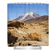 Bizarre Landscape Bolivia Shower Curtain