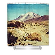 Bizarre Landscape Bolivia Old Postcard Shower Curtain