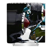 Black 1955 Thunderbird Shower Curtain